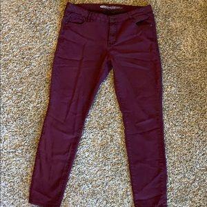 Old Navy Maroon Rockstar Jeans